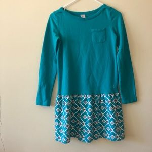 Gymboree| Blue Sweater Dress w/ Diamond Pattern